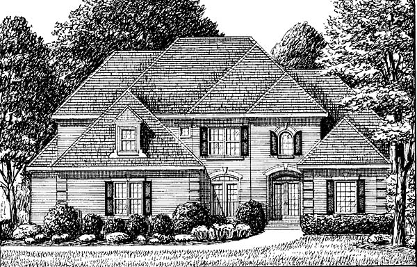 Traditional House Plan 67141 with 4 Beds, 4 Baths, 2 Car Garage Elevation