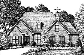House Plan 67144 | Traditional Style Plan with 2637 Sq Ft, 3 Bedrooms, 3 Bathrooms, 2 Car Garage Elevation