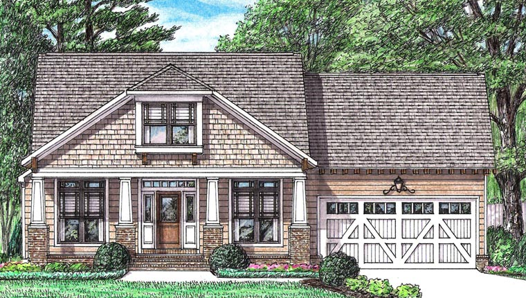 Bungalow Cottage Country Craftsman House Plan 67147 Elevation
