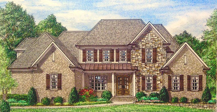 Country European Southern Traditional House Plan 67148 Elevation