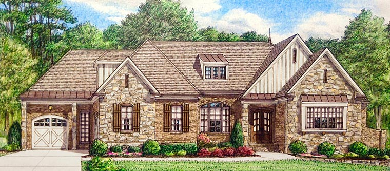 Country Craftsman European House Plan 67150 Elevation