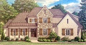 Bungalow Country Craftsman Farmhouse Traditional House Plan 67151 Elevation