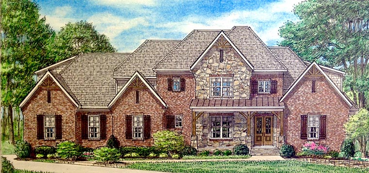 Country Southern Traditional House Plan 67152 Elevation