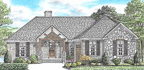 Bungalow Cabin Cottage Country Craftsman Traditional House Plan 67153 Elevation