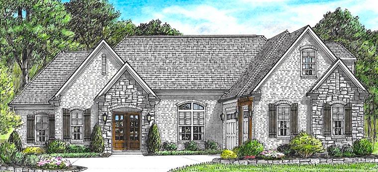 Bungalow Cottage Craftsman European Traditional House Plan 67155 Elevation