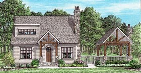 Cottage Country Craftsman House Plan 67156 Elevation