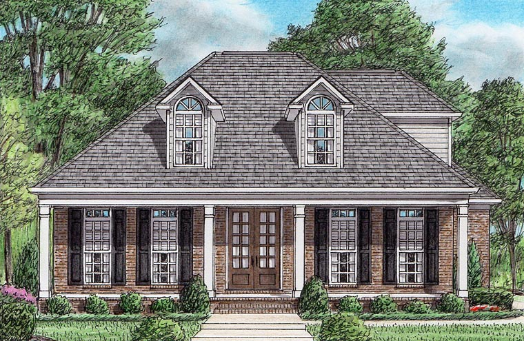 Colonial European Southern House Plan 67157 Elevation
