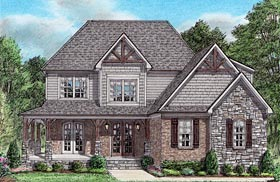 Country Craftsman Farmhouse House Plan 67158 Elevation