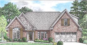 Cottage Country Craftsman Traditional House Plan 67160 Elevation