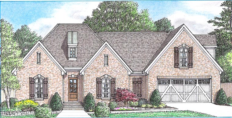 European Traditional House Plan 67161 Elevation
