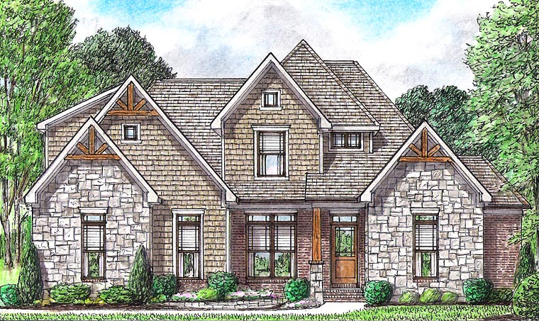 Bungalow Cottage Country Craftsman Traditional House Plan 67162 Elevation