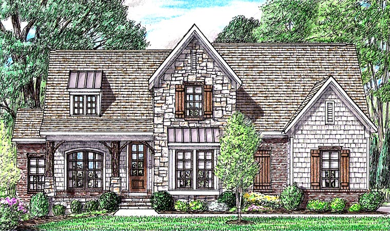 Cottage Country Craftsman House Plan 67163 Elevation