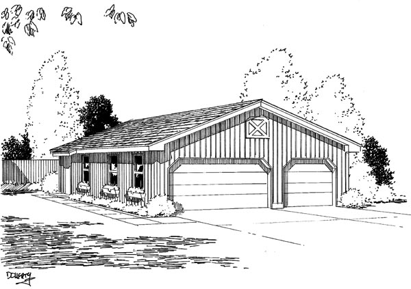 Garage Plan 67201 Elevation