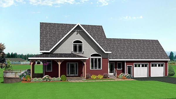 Colonial Farmhouse House Plan 67203 Elevation