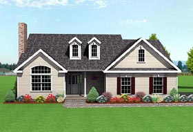 Traditional House Plan 67204 Elevation