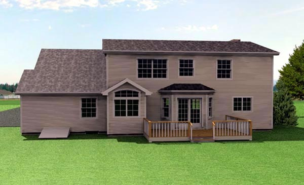 Traditional House Plan 67204 Rear Elevation