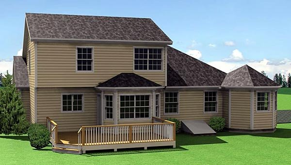 Traditional House Plan 67205 Rear Elevation