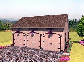 Garage Plan 67206 | Style Plan, 3 Car Garage Elevation
