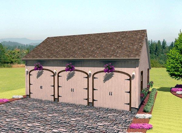 Garage Plan 67206 Elevation