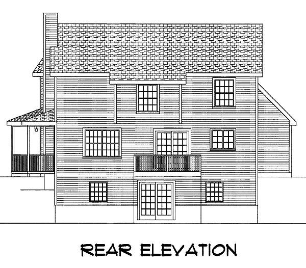 Farmhouse House Plan 67207 Rear Elevation