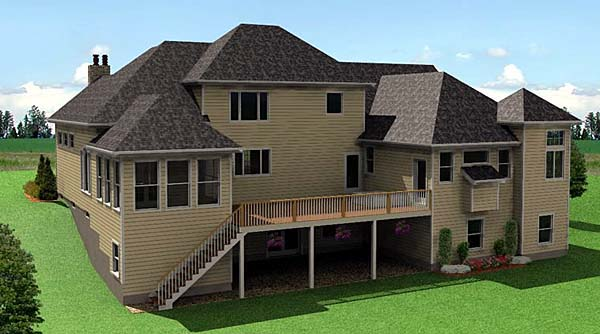 Traditional House Plan 67210 Rear Elevation