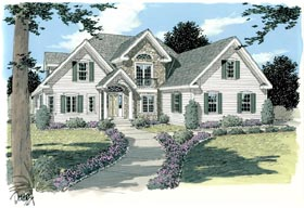 Traditional House Plan 67213 Elevation