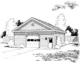 6 Car Garage Plan 67214 Elevation