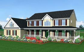 Farmhouse House Plan 67216 Elevation