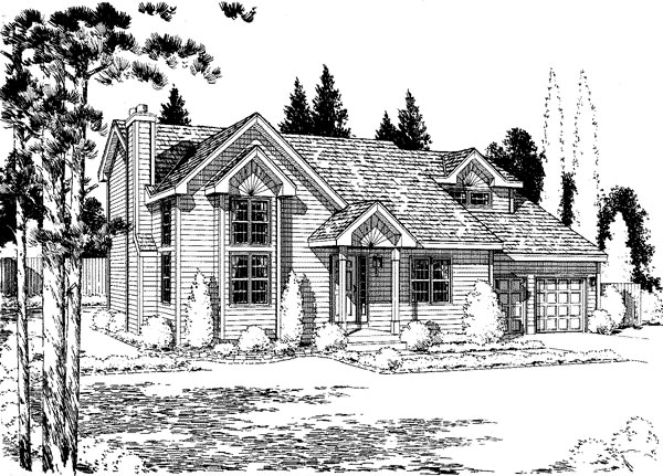 Traditional House Plan 67222 Elevation