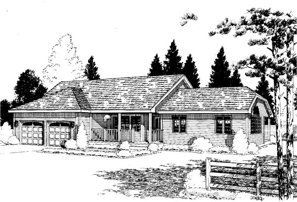 Ranch House Plan 67227 Elevation