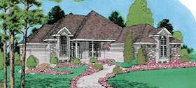 European House Plan 67228 Elevation