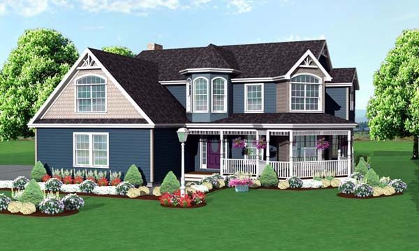 Victorian House Plan 67233 Elevation