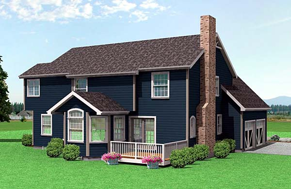 Victorian House Plan 67233 Rear Elevation