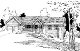 Ranch House Plan 67235 Elevation