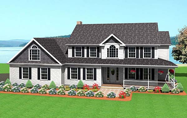 Farmhouse House Plan 67242 Elevation
