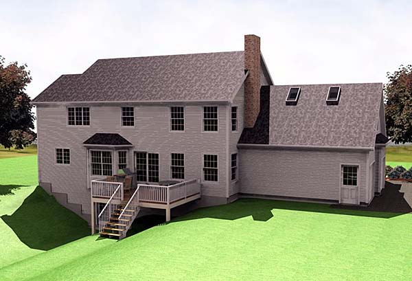 Farmhouse House Plan 67242 Rear Elevation