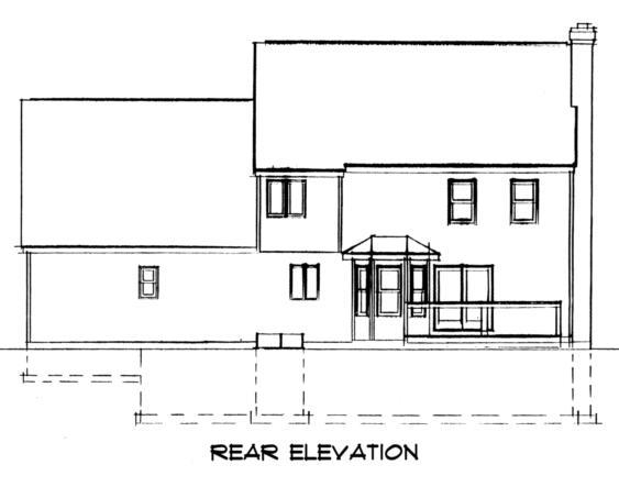 Farmhouse House Plan 67247 Rear Elevation