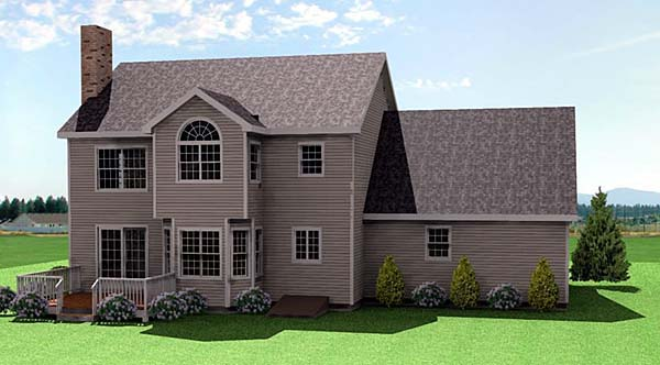 Farmhouse House Plan 67253 Rear Elevation