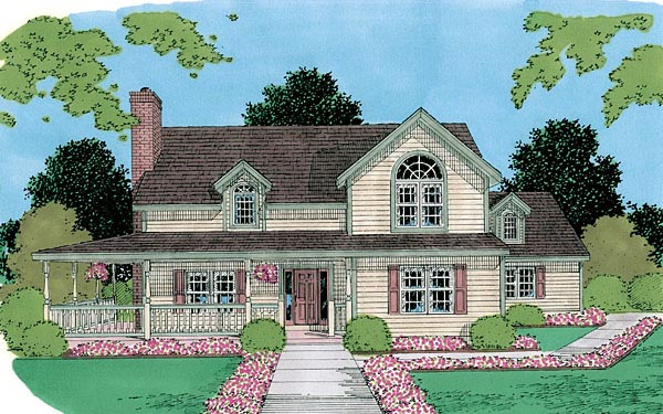 Farmhouse House Plan 67257 Elevation