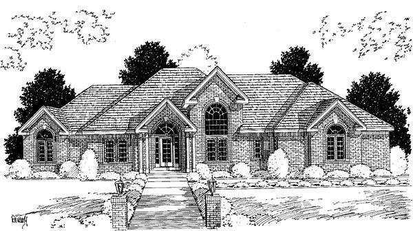 Traditional House Plan 67259 Elevation