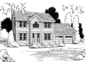 Colonial House Plan 67262 Elevation