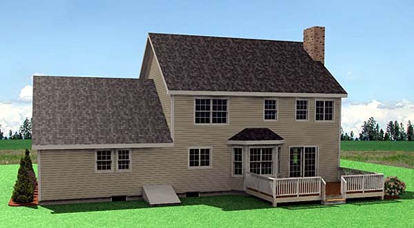 Farmhouse House Plan 67263 Rear Elevation
