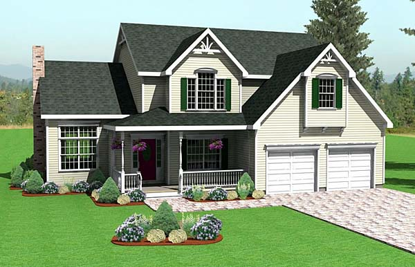 Farmhouse House Plan 67267 Elevation