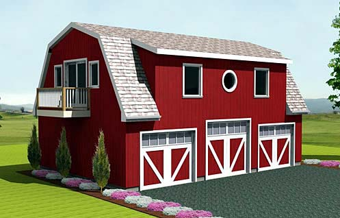 Farmhouse Garage Plan 67275 Elevation