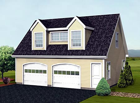 Cape Cod Garage Plan 67277 Elevation