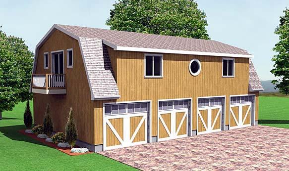 Farmhouse Elevation of Plan 67280