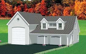 3 Car Garage Apartment Plan 67282, 1 Baths Elevation
