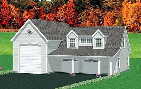 Garage Plan 67282 Elevation