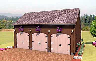 Garage Plan 67284 Elevation