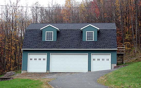 4 Car Garage Plan 67290 Front Elevation